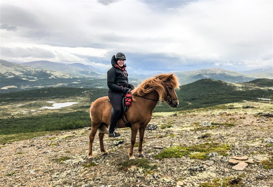Ridning på Gålå i sommer 2021