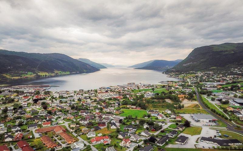 Nordfjord Hotell Flygbild