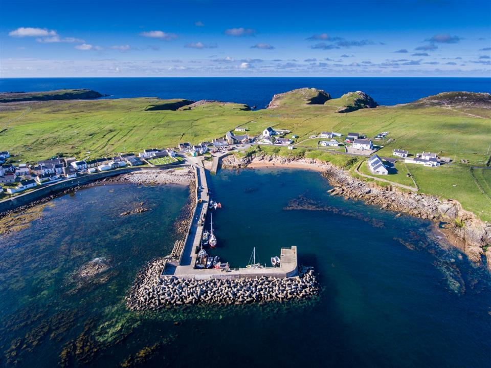 Tory Island Harbour view