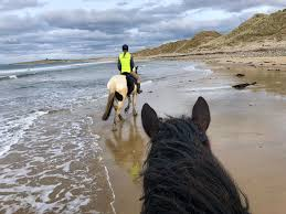 Strandhill Lodge riding on beach