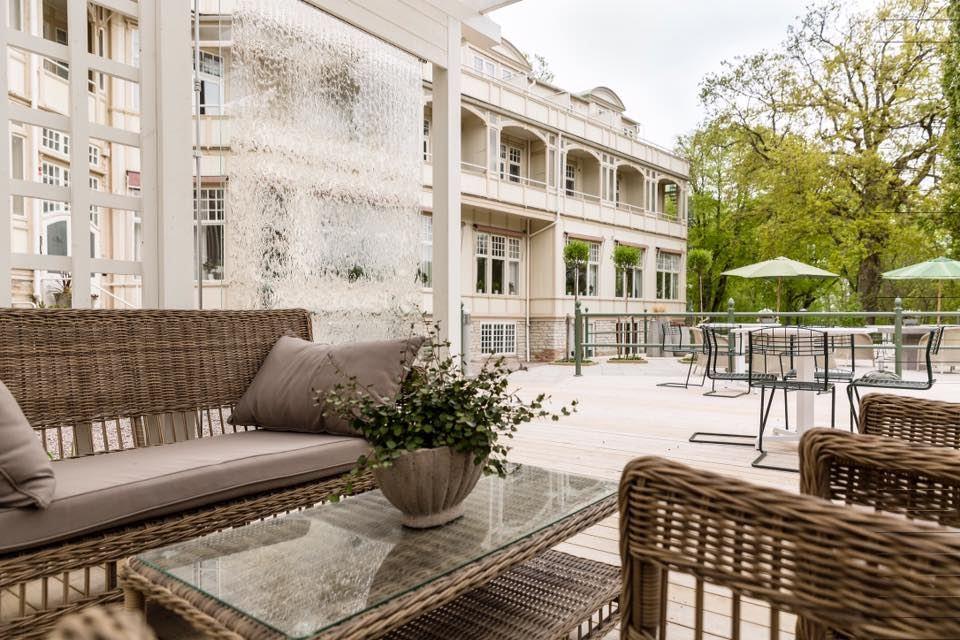 Kurorten Mösseberg Hotel Uteplats