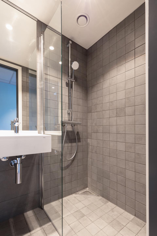 Moderne bad med varmekabler