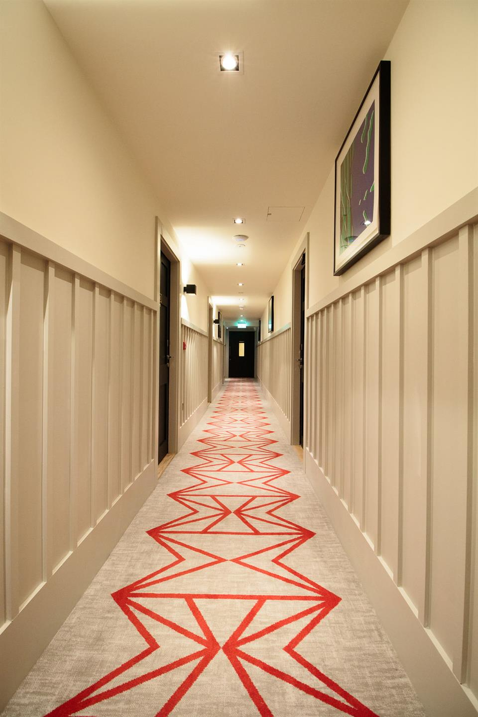 The Clarence Hotel Corridor