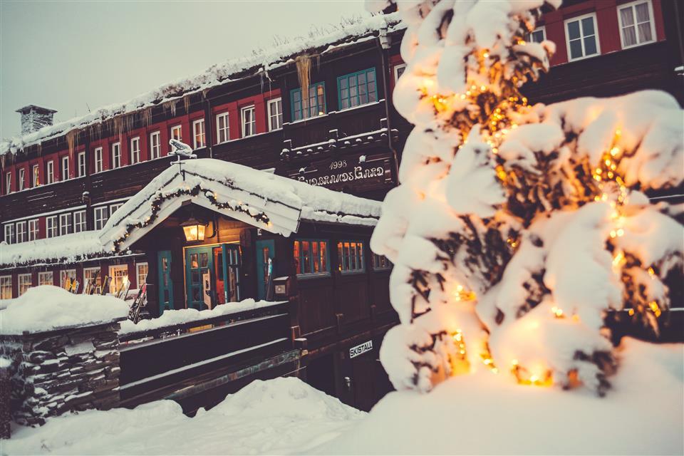 Inngang til Gudbrandsgard Hotell