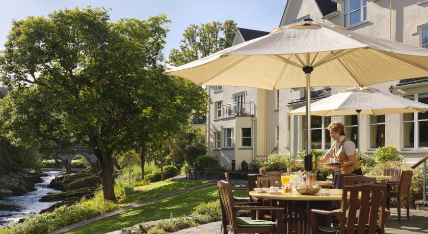 Sheen Falls Lodge patio outdoors