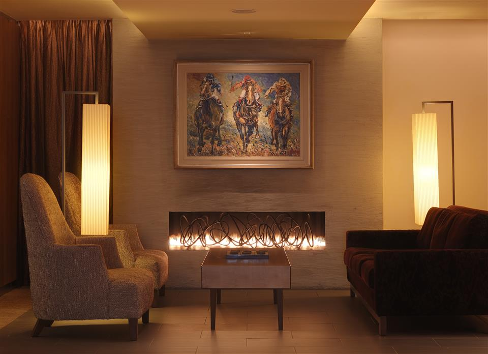 Aghadoe Heights Hotel Fireplace in Lobby