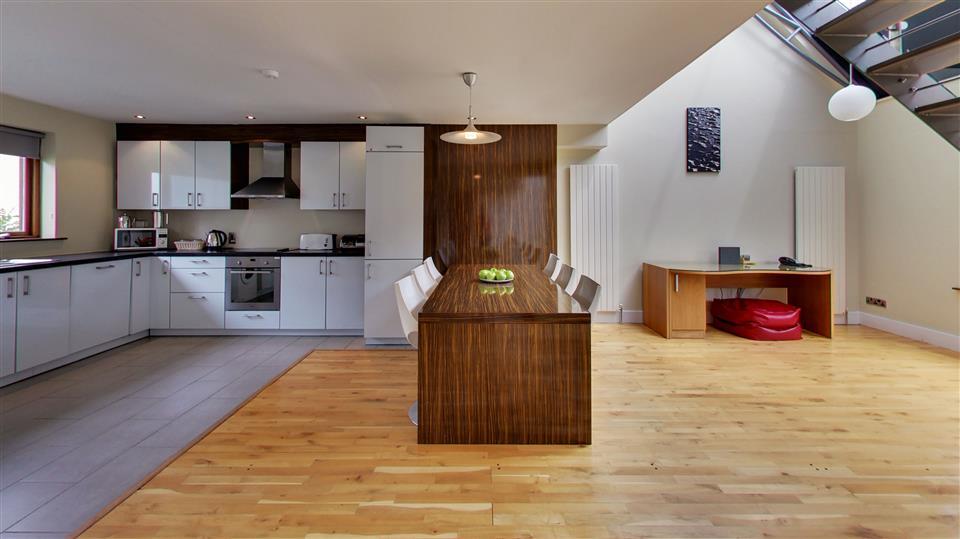 Walled Garden Lodges open plan kitchen