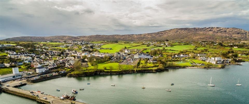 Schull Harbour Hotel Ariel View