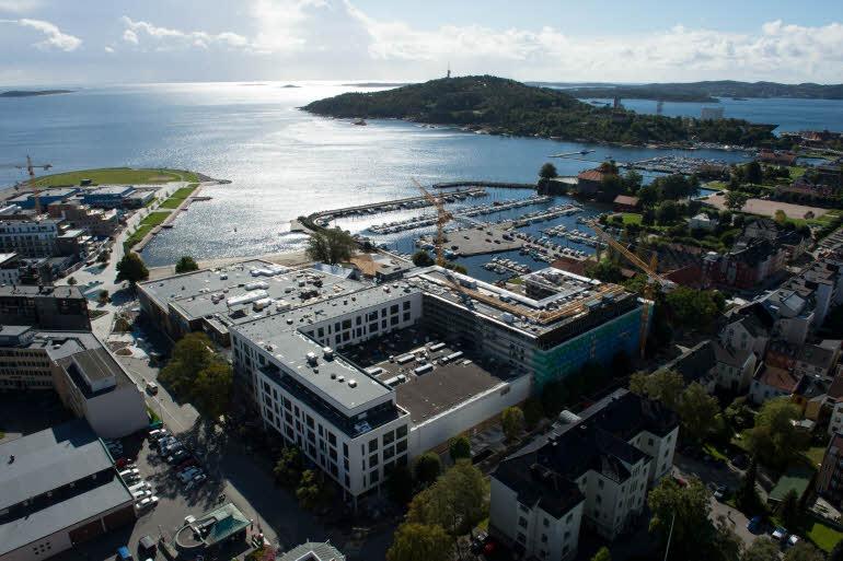 Scandic Kristiansand Bystranda Flygbild