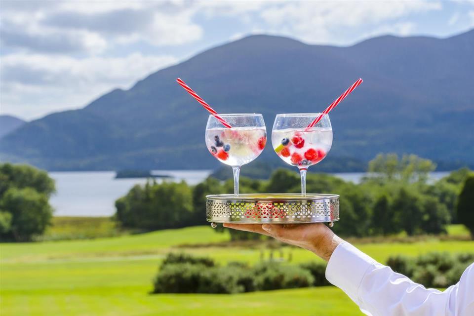 Castlerosse Park Resort cocktails with view