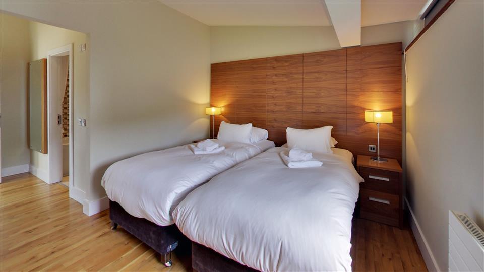 Walled Garden Lodges twin room