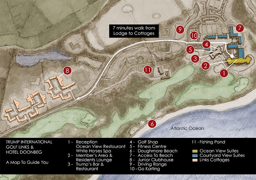 Trump International Resort Map
